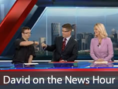 Intern David on the News Hour