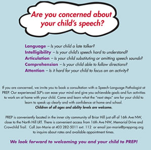 Speech Therapy Flyer